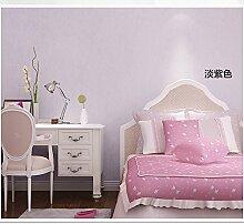 MDDW-Dicke Filament Vlies Tapeten modern minimalistischen Wohnzimmer Schlafzimmer solide einfarbigen Tapete , pink