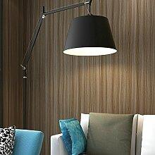 MDDW-Einfach schlicht faux Holz Längsstreifen moderne Dekoration Tapete Wohnzimmer Schlafzimmer Hotel Videowand Hintergrundbild , dark brown