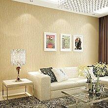 MDDW-Einfache moderne Plaid schlicht einfarbig Vliestapete großes Wohnzimmer Schlafzimmer von Wand zu Wand Tapete , meters yellow
