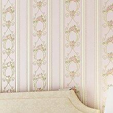 MDDW-Europäische Vliestapete 3D Genauigkeit der einfachen pastorale Streifen Tapete Schlafzimmer Wohnzimmer Tapete , 3#