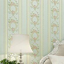 MDDW-Europäische Vliestapete 3D Genauigkeit der einfachen pastorale Streifen Tapete Schlafzimmer Wohnzimmer Tapete , 2#