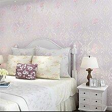 MDDW-Europäischen romantischen Garten Blume shop Tapete warme Schlafzimmer Wohnzimmer TV Hintergrund 4D voll Tapete Klebstoff verklebt Wandtuch , 1#