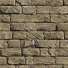 MDDW-Explosionen Backstein Muster Tapete 3D-Simulation Marmor Stein Hotel Wohnzimmer Wand PVC Tapeten , 360504