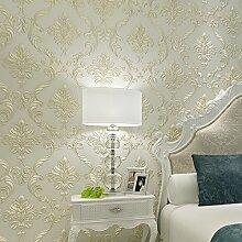 MDDW-Fein geprägte supersolid luxuriösen europäischen Stil Wohnzimmer Schlafzimmer Sofa Tapete TV Studie Vliestapete