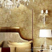 MDDW-High-End-importierten amerikanischen Stil Normalpapier Tapete Schlafzimmer Wohnzimmer Sofa TV Wand Hintergrundbild , 3320