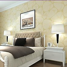 MDDW-High-End-verdickte Stereo modernen minimalistischen Wohnzimmer Schlafzimmer Tapete Vlies-Tapeten zu werfen , yellow