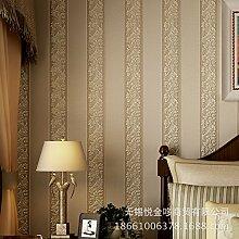 MDDW-Jane europäischen Vliestapete vertikale Streifen Tapete Wohnzimmer Wohnzimmer TV Hintergrundwand gewaschen , stone yellow