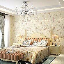 MDDW-Kontinentale pastoralen Land kleinen floralen Stil 3D Vlies Tapete Tapeten Wohnzimmer TV Schlafzimmerwand, Umwelt- , wallpaper