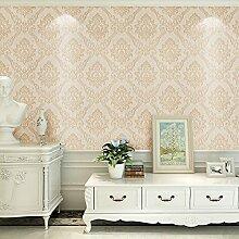 MDDW-Kontinentale Wand Papier nichtgewebtes Papier TV Hintergrund Tapeten Wohnzimmer Esszimmer Schäumen Blumen Tapete , Pink