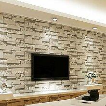 MDDW-Moderne 3D Brick-wie PVC Projekt Retro-Backstein Muster Dekoration Wohnzimmer Tapete Hintergrund Tapeten , 69141