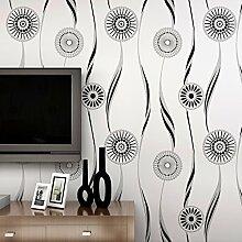 MDDW-Moderne und einfache Vliestapete 3D Anaglyph beflockte Sub Golden Sun Wohnzimmer Schlafzimmer Teppichboden Tapete , 88083