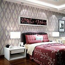 MDDW-Modernen minimalistischen dreidimensionalen Relief Vlies-Tapeten Wohnzimmer Schlafzimmer Wand Tapete , dimensional relief (purple)
