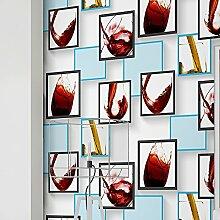 MDDW-Modernes Rotes Glas glatt Vlies Tapete Tapete Hochzeitszimmer Wohnzimmer Wände , 123034