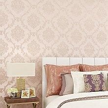 MDDW-Neue fein Prägung Vlies Tapete europäisches Design Wohnzimmer Wohnzimmer TV Hintergrund Tapeten , Pink