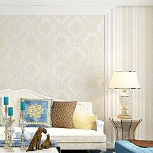 MDDW-Neue Vlies Tapete Tapete Wohnzimmer Schlafzimmer europäisch anmutenden Streifen Tapete Prägung , white