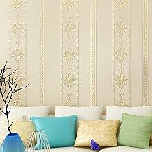 MDDW-Präzisions-Stickerei Muster Tapete Klebstoff verklebt Tuch einfach europäischen Stil Wohnzimmer Wand Hintergrundpapier , ja112