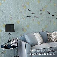 MDDW-Romantische Garten frische Mode einfach Vliestapete Tapete Muster Holzboden , days blue 88122