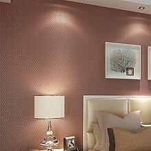 MDDW-Solide einfarbigen Tapete Vlies Tapeten einfache warme Schlafzimmer Hotel KTV engineering Hintergrund Wand tapezieren , Red