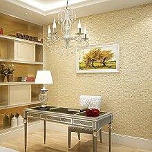 MDDW-Solide schlichte einfache Leinentuch Vlies-Tapeten Wohnzimmer moderne Schlafzimmer Wand Tapete , meters yellow /x-37203