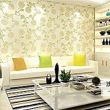 MDDW-Stereoskopische 3D Vlies Tapete warme pastoral geprägte Tapete Schlafzimmerwände Wohnzimmer , dimensional relief (light yellow)