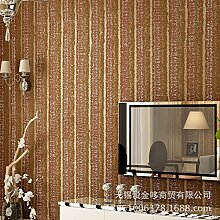 MDDW-Vlies-Tapete ist geprägten kontinentalen fleckige Retro-gestreiften Wohnzimmer Arbeitszimmer TV Hintergrundbild , e9-906 coffee