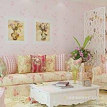 MDDW-Vliestapete romantische 3D Garten Tapete Schlafzimmer/Wohnzimmer TV Hintergrund Tapeten , azalea