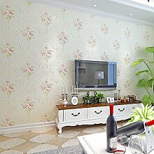 MDDW-Warme Pastoral Stempeln große Vliestapete Wohnzimmer Schlafzimmer Wand Tapete , meters white