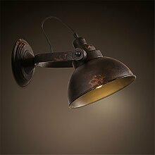 MDERTY Retro Wandlampe Bett aus Schmiedeeisen
