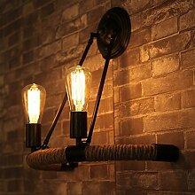 MDERTY Retro Wandlampe Gang Garn Vintage Wandlampe