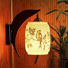 MDERTY Retro Wandlampe Keramik dünne Reifen