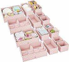 mDesign 16er-Set Kinderzimmer Aufbewahrungsbox –