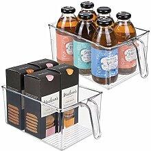 mDesign 2er-Set Aufbewahrungsbox aus Kunststoff -
