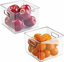 mDesign 2er-Set Aufbewahrungsbox klein - ideal zur