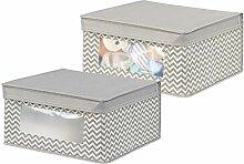 mDesign 2er-Set Baby Organizer - Aufbewahrungsbox