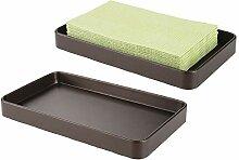 mDesign 2er-Set Badezimmer Tablett - moderner