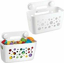 mDesign 2er-Set Duschkorb für Kinder zum Hängen