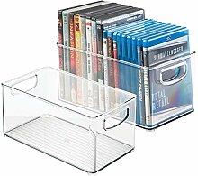 mDesign 2er-Set DVD-Aufbewahrungsbox –