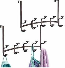 mDesign 2er-Set Garderobe aus Metall –