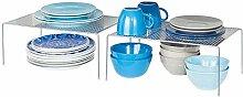 mDesign 2er-Set Geschirrablage für die Küche –