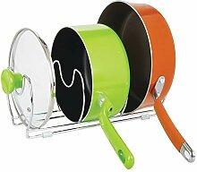 mDesign 2er-Set Geschirrablage für Kochtöpfe,