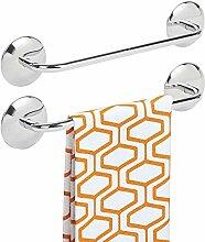 mDesign 2er-Set Handtuchhalter ohne Bohren –