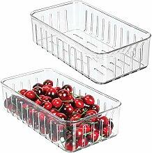 mDesign 2er-Set kleine Kühlschrankbox -