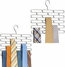 mDesign 2er-Set Krawattenhalter – edler
