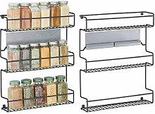 mDesign 2er-Set Küchenregal aus Metall –