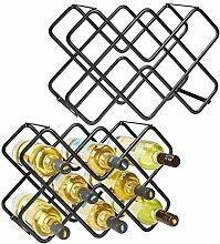 mDesign 2er-Set Wein- und Flaschenregal –