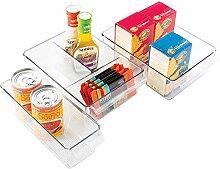 mDesign 3-teiliges Aufbewahrungsbox-Set - ideal