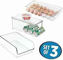 mDesign 3-teiliges Küchen Organizer Set - offener