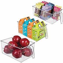mDesign 3er-Set Aufbewahrungsbox aus Kunststoff -