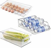 mDesign 3er-Set Kühlschrank Organizer aus