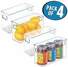 mDesign 4er-Set Aufbewahrungsbox (mittel) - ideal